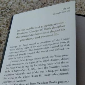 Accents - Hard Cover Book - George W Bush - Decision Points